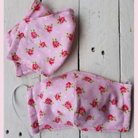 Mondkapje Pink Roses Tiener/Dames