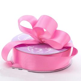 Lint Satijn (2,2 cm) per meter -  Bubblegum Roze