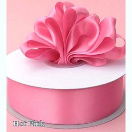Lint Satijn (2,2 cm) per meter -  Hot Pink