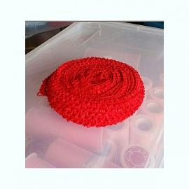 Gehaakt band Rood 4 cm (per 50 cm)