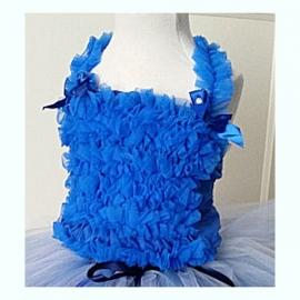 Top Chiffon Roezels - Koningsblauw