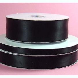 Lint Satijn (4 cm) per meter - Zwart