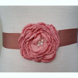 Bloemen Ceintuur 6 Oud Roze