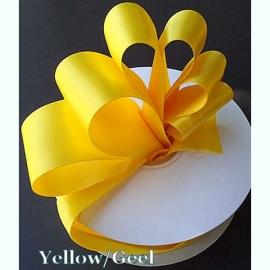 Lint Satijn per meter - Geel