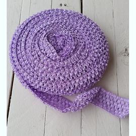 Gehaakt band Lavendel 4 cm (per 50 cm)