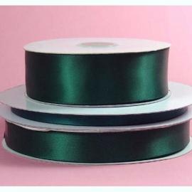 Lint Satijn (2,2 cm) per meter -  Donker Groen