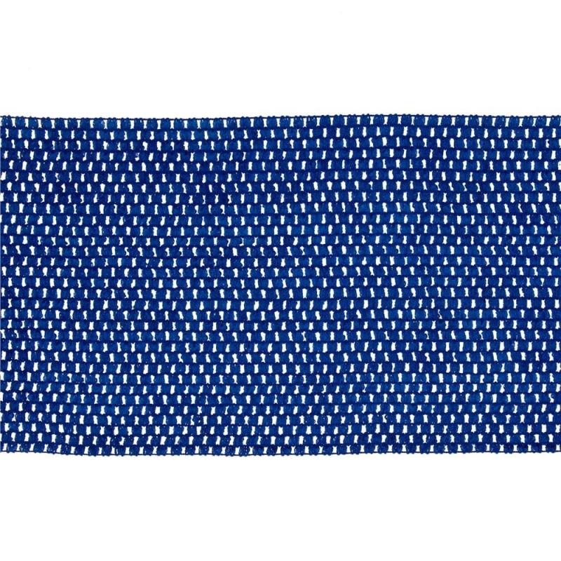 Gehaakt band voor top - Konings Blauw- per 20 cm