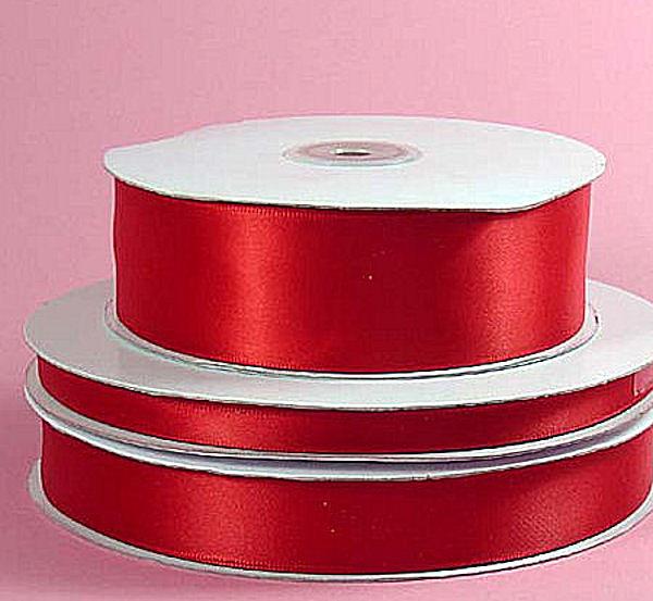 Lint Satijn per meter - Rood