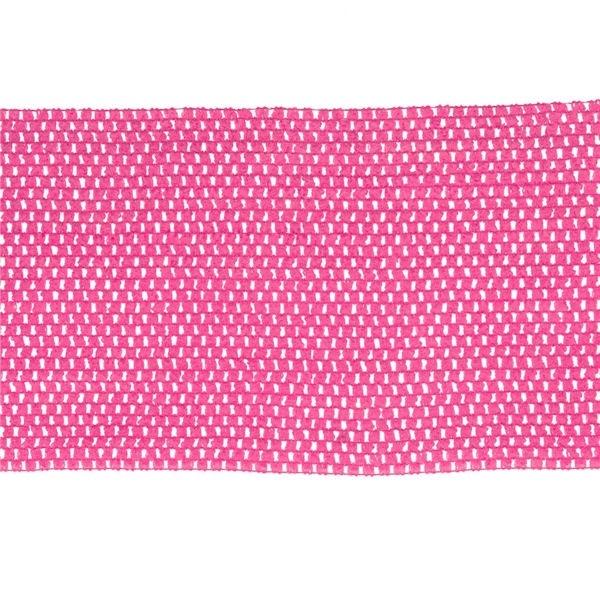 Gehaakt band voor top - Fuchsia - per 20 cm
