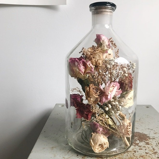 Flask wedding bouquet