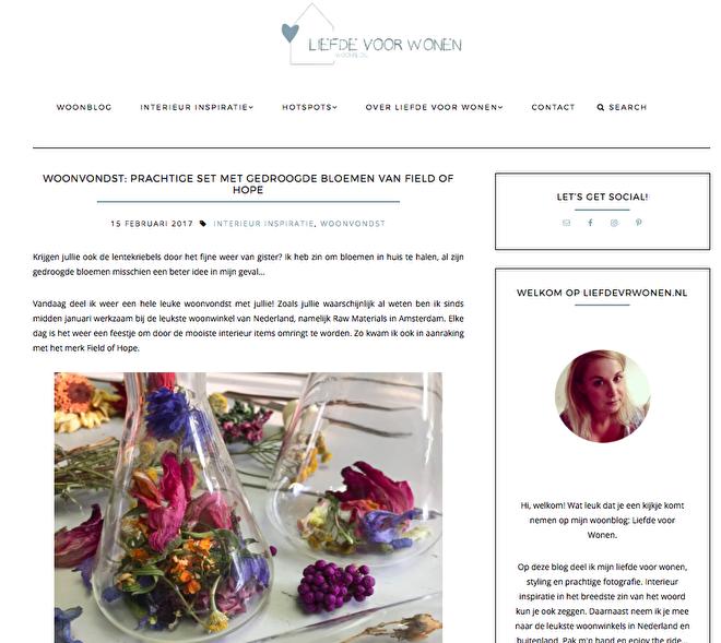 Liefde voor wonen blog