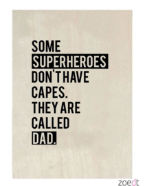 Houten Kaart Dad
