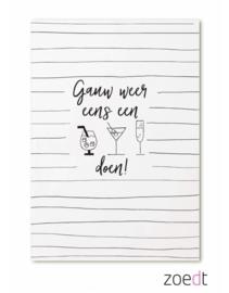 Kaart Gauw Weer Eens Een Drankje Doen