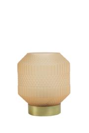 Tafellamp LED Ø15,5x19 cm TAMI Glas Mat Licht Oranje