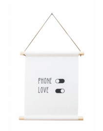 "Textielposter ""Phone-Off Love on"""