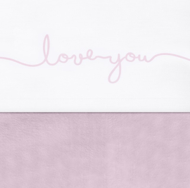 Laken Love You Vintage Pink 120x150cm