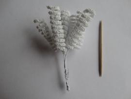 Bloemen spiraal wit 6 stuks