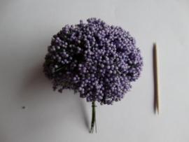 Bloemen takjes met bollentjes Paars