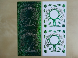 Stickervel Holografisch 849 Bomen Holografisch Groen