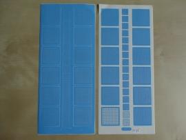 Stickervel Mozaiek 1078 Starform Vierkantjes Licht Blauw