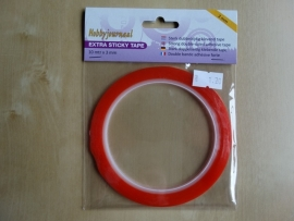 Tape extra Sticky Tape dubbelzijdig 3mm  10 mtr x 3mm