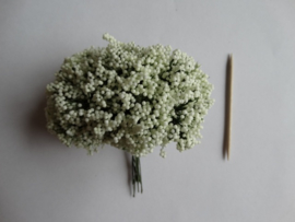 Bloemen takjes met bollentjes Creme