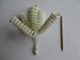 Bloemen spiraal creme 6 stuks