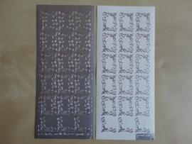 Stickervel Kerst Hoekjes 271  Pickup Zilver