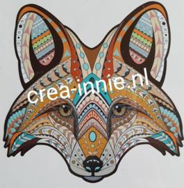 Houten puzzel vossenkop bruin formaat A4
