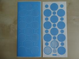 Stickervel Mozaiek 1079 Starform Rondjes Licht Blauw