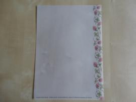 Perkamentvel Klaver vier met bloemen