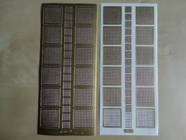 Stickervel Mozaiek 1078 Starform Vierkantjes Goud