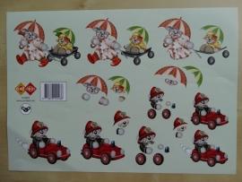 3d knipvel Baby Kinderen Card Deco HJ 3802