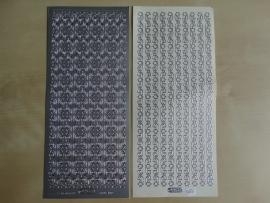 Stickervel Kerst Randjes 986 Starform Zilver
