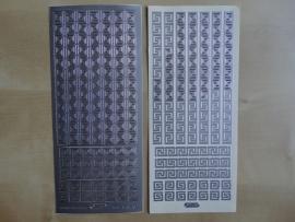 Stickervel Randjes 1103 Starform Zilver