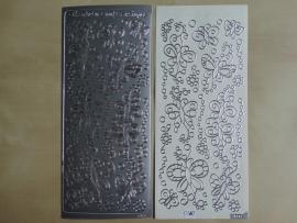 Stickervel Diverse 0362 Zilver