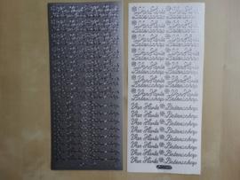 Stickervel Tekst 205 Starform Van Harte Beterschap Zilver