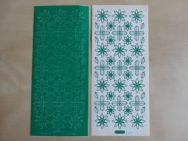 Stickervel Kerst Diverse 979 Starform Groen