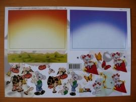 3d knipvel borduur baby kinderen Happy Stitching kinderen HS 10002