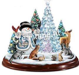 kerst (bol) boom sneeuwpop hert en vos
