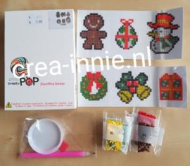 stickers T006 Kerst krans, sneeuwpop, klokken