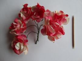 Bloemen groot rood 6 stuks
