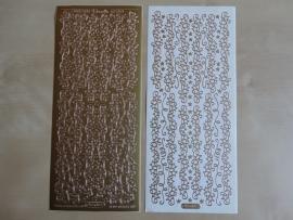 Stickervel Kerst Randjes 8508 Starform Goud