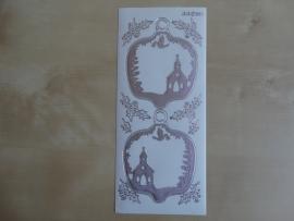Stickervel Kerst Diverse 2211 Jeje Transparant met Zilver