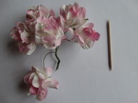 bloemen groot roze 6 stuks