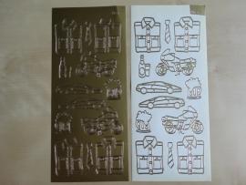 Stickervel Diverse 572 Mannen Goud