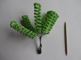 Bloemen spiraal groen 6 stuks
