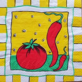 tomaat en pepertje