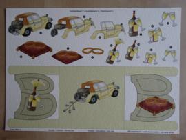 3d Knipvel Trouwen Schilderijkaart 5  Crea Hilrie