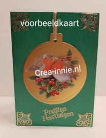 Voorbeeldkaart met de losse kerstbal
